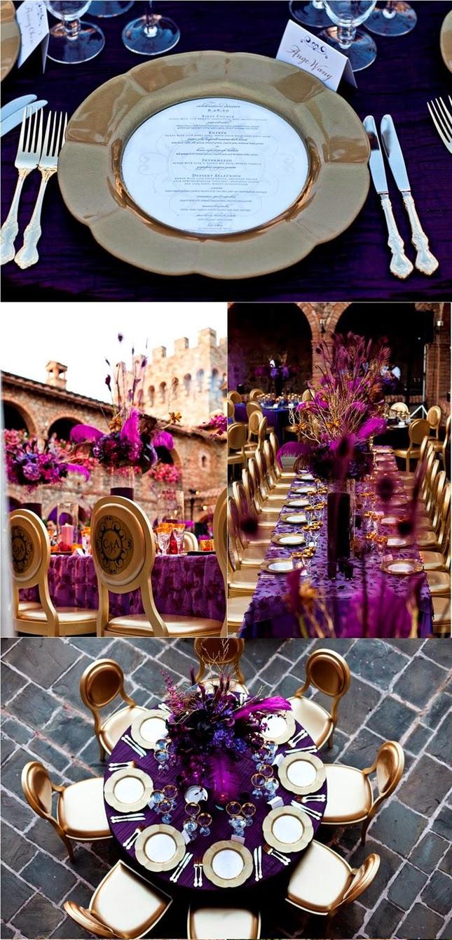 purple and gold wedding ideas wedding stuff ideas. Black Bedroom Furniture Sets. Home Design Ideas