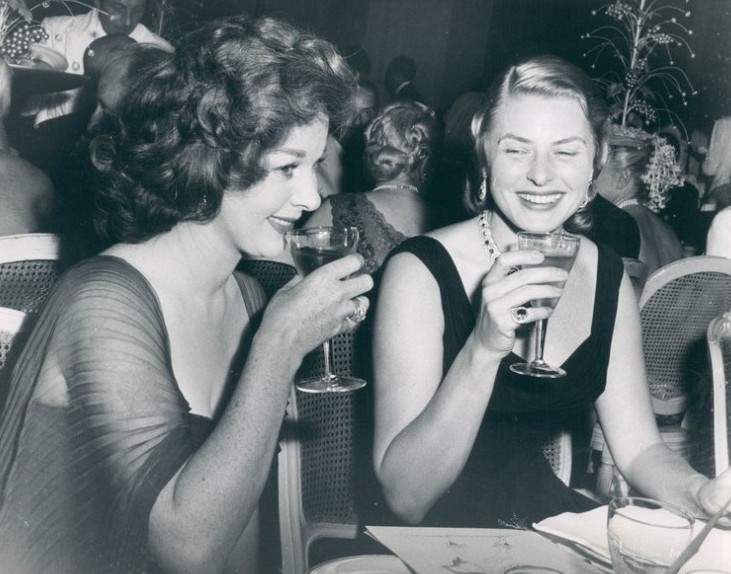 Susan Hayward and Ingrid Bergman