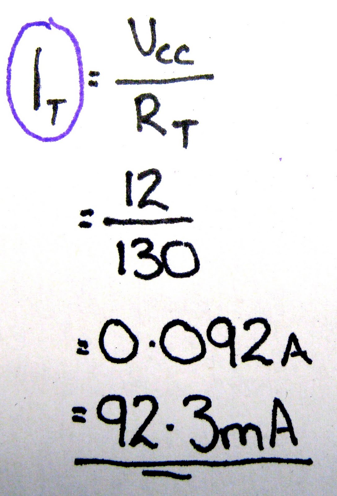 Gwc 4cr Technological Studies 2011 12 Combined Circuits What Is The Total Resistance In Circuit Knowing We Can Find Current