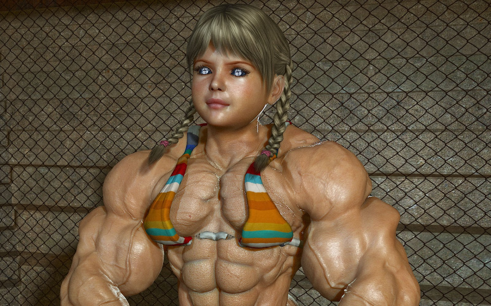 3d muscle girl exploited image