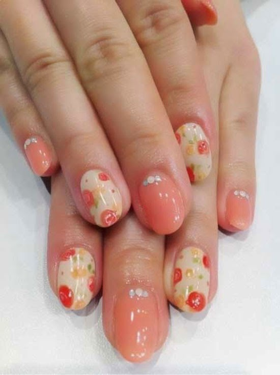 Lush fab glam blogazine mani monday style me pretty in coral click to see more pretty candy color nail art designs for springsummer prinsesfo Gallery