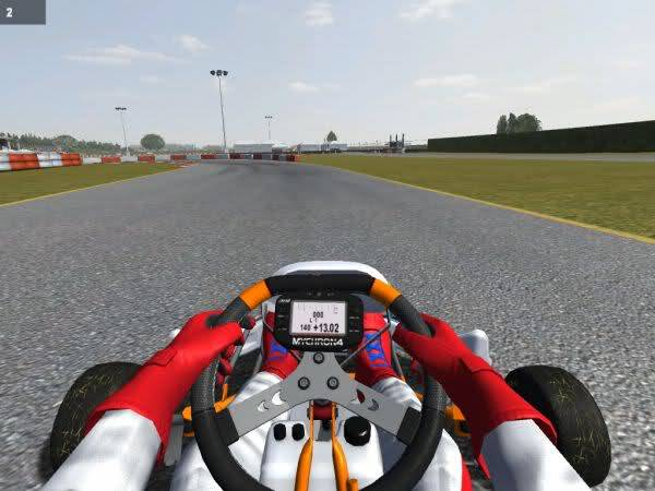 nuevo display y menu en kart racing pro