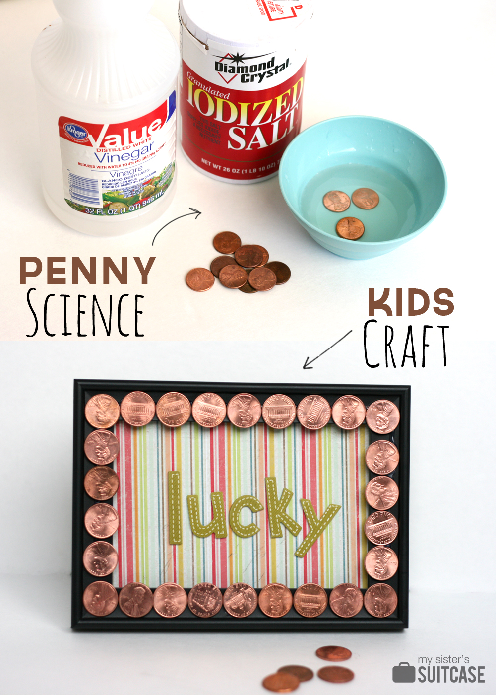 Science With Kids + Penny Frame Craft - My Sister\'s Suitcase ...