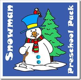 Free Snowman Preschool Pack