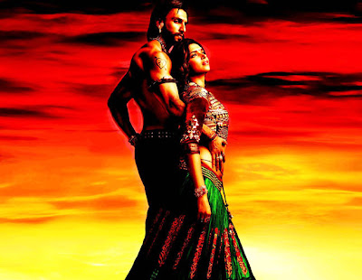 'Ram Leela' First Look Deepika-Ranveer Looking Sexy in Poster