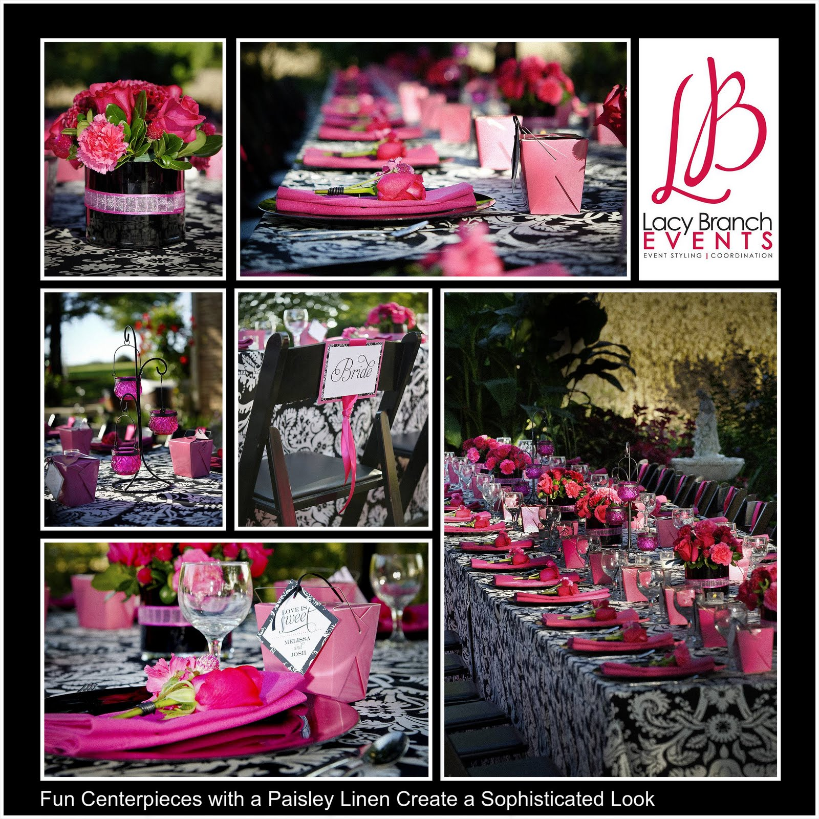 Hot Pink Wedding Centerpieces