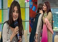 Sajal Ali Singing for the First Time in a Live Morning Show
