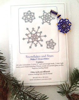 Snowflakes and Stars Beading Kit and Tutorial Giveaway