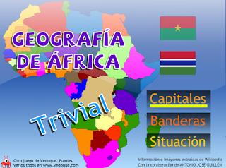 TRIVIAL DE ÁFRICA: CAPITALES, BANDERAS Y SITUACIÓN.