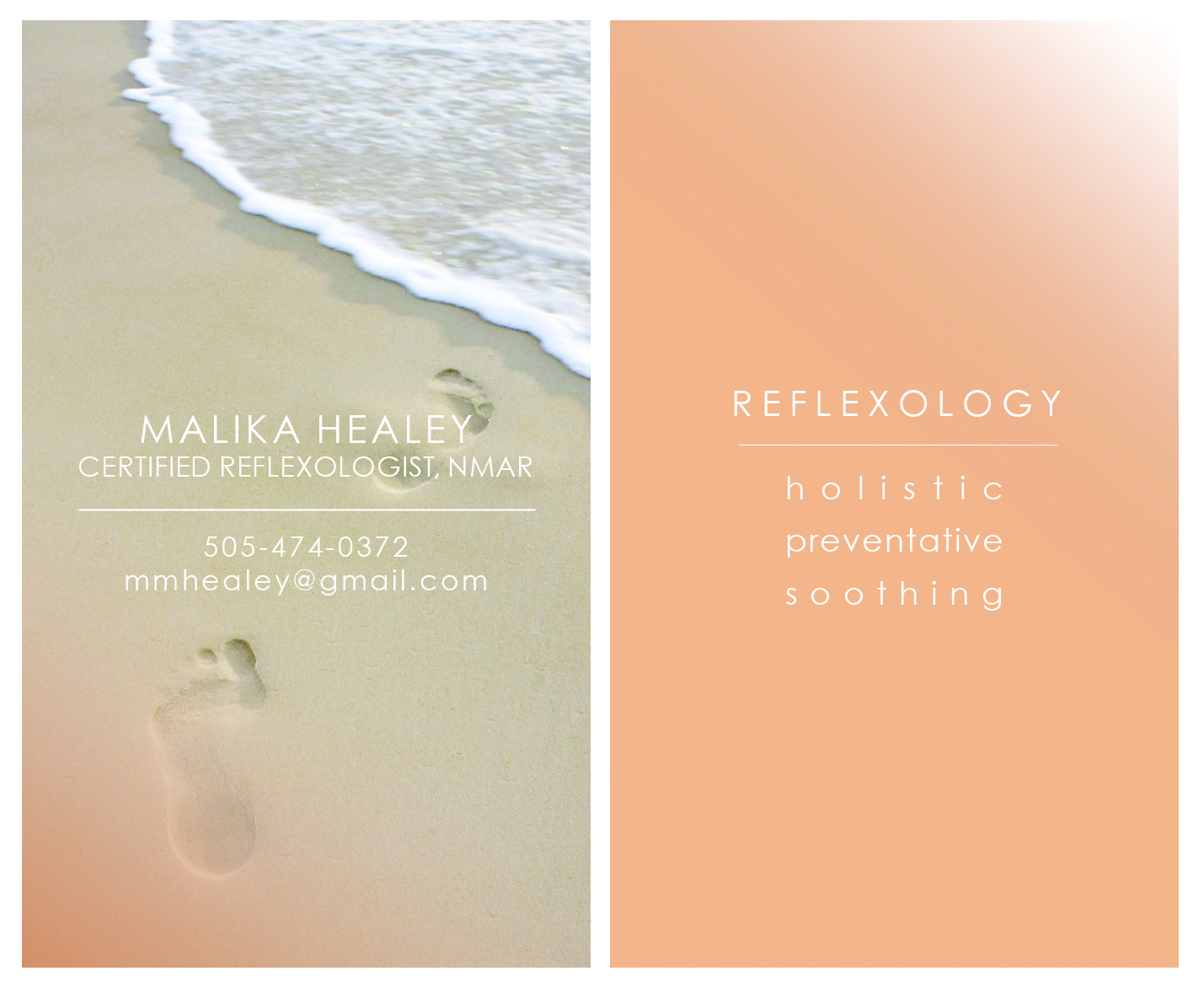 Healing Colors : Reflexology Business Cards | We Think All Day ...