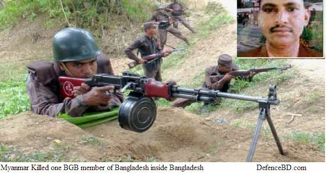 Myanmar Killed one BGB of Bangladesh