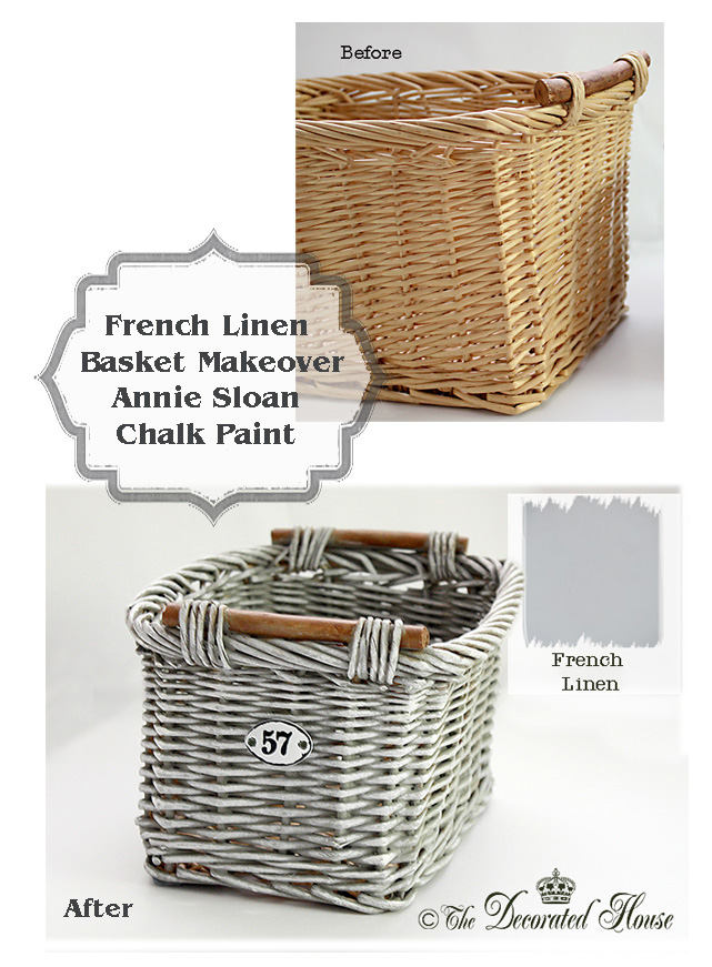 The Decorated House : How to: French Linen Basket Makeover Tutorial