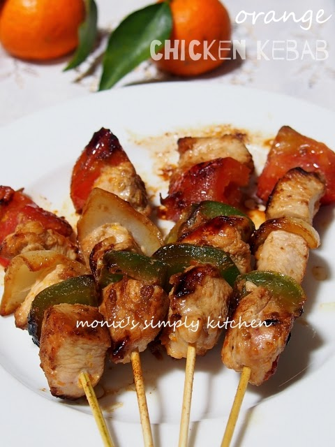 resep orange chicken kebab