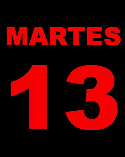 13 martes:
