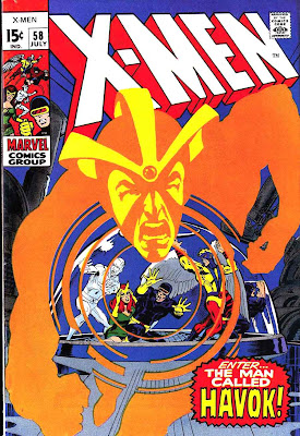 X-men v1 #58 marvel comic book cover art by Neal Adams