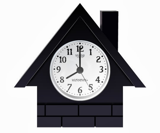Vector House Shaped Clock