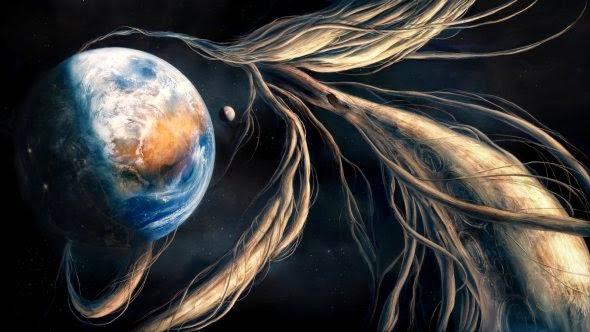 Valentinia Korshunakova Elitanna deviantart ilustrações surreal ficção planetas universo photoshop