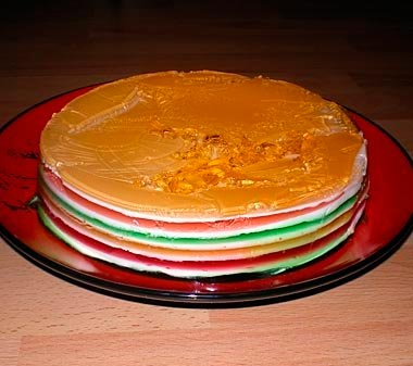 Желейный торт слоями фото
