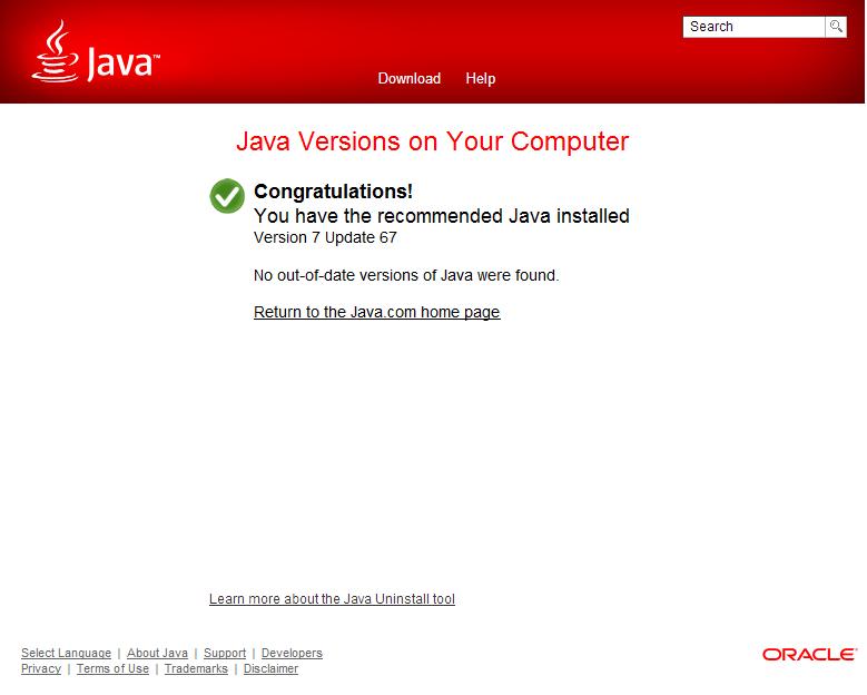 latest java update august 2014