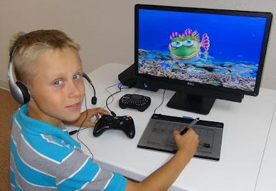a child working with invirtua's digital avatart