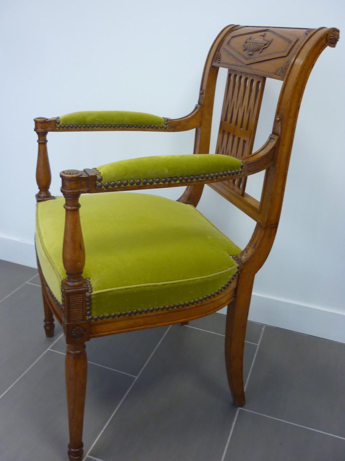 Paire de fauteuils directoire for Canape directoire