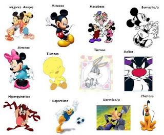 Etiqueta caricaturas