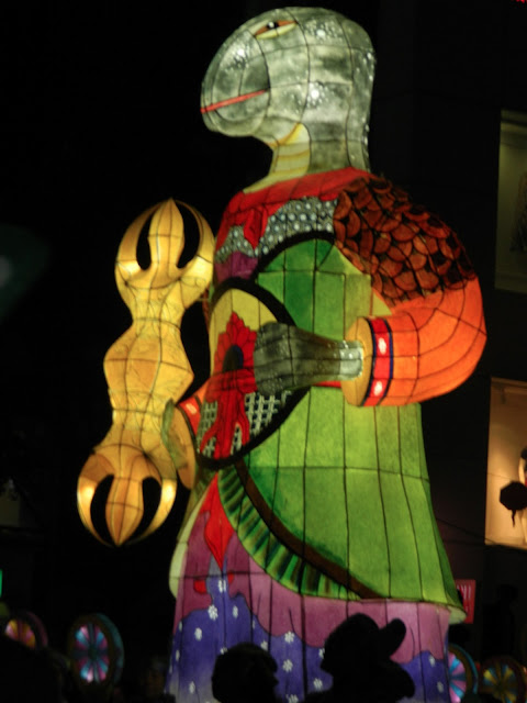 The tortoise lantern of the lotus lantern festival