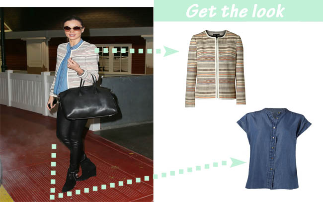 Miranda Kerr get the look etnica denim Mango