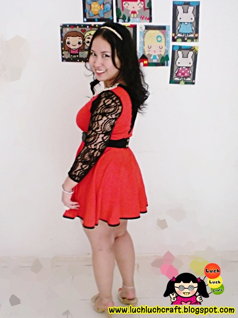 Special Red Dress From DIY: Make Your Dress Special