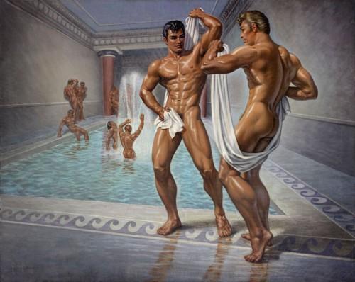 Roman baths gay sex naked preston steel