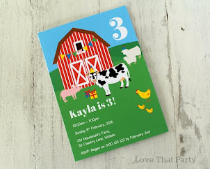 Farm Animal Invitation