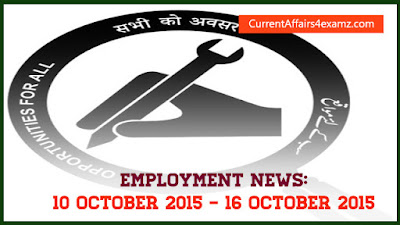 Employment News October 2015