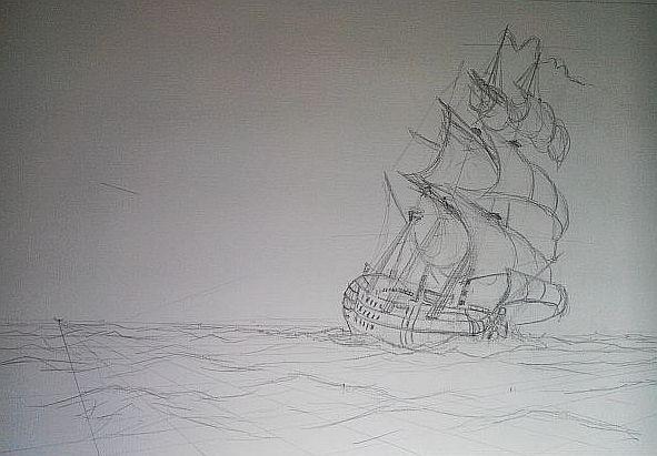 Pintura naval La Carrera del Glorioso 1
