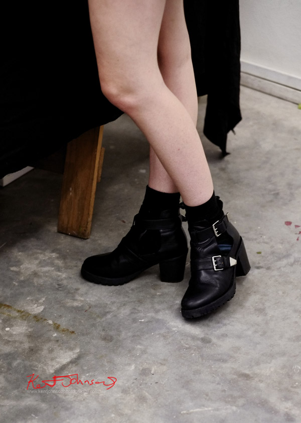 Chunky Ankle Boots with two silver buckles - Street Fashion Sydney.