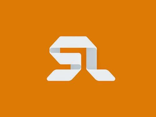 Overlapping technique Logo SL Monogram