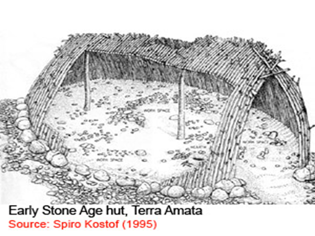 early stone age hut, Terra Amata