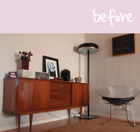 El antes y despu s del mueble retro galiana street for Pintar muebles de cocina antes y despues