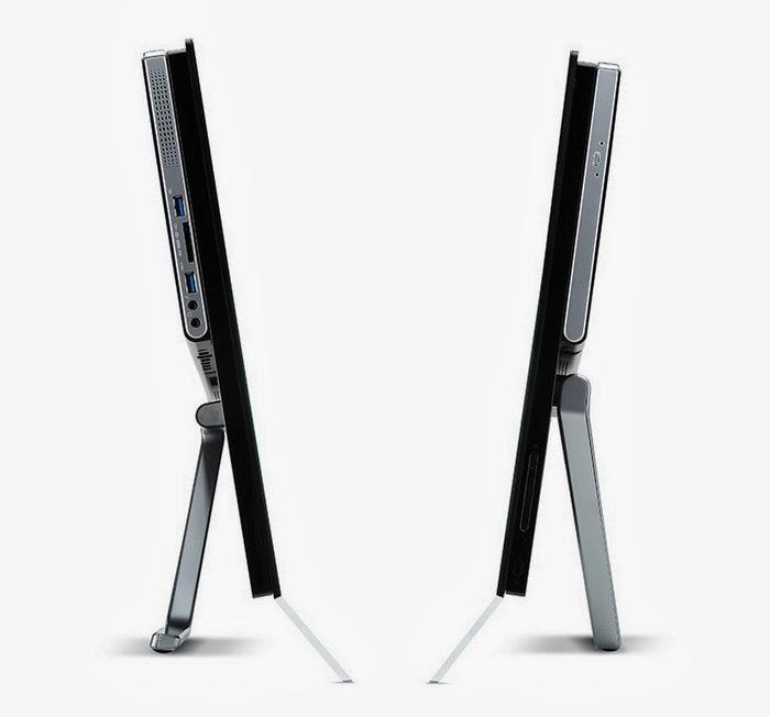 Вид слева и справа моноблока Acer Aspire 5600U
