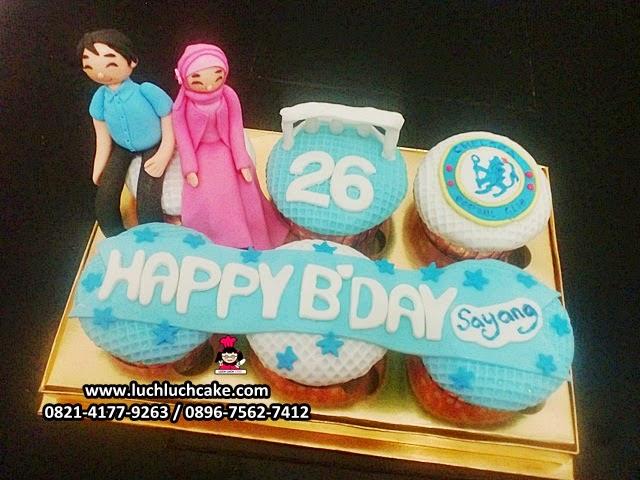 Cupcake Ulang Tahun Untuk Pacar Tema Chelsea