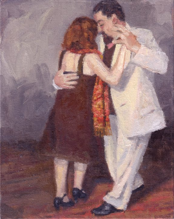Tango Dancers oil painting by Andrew Daniel