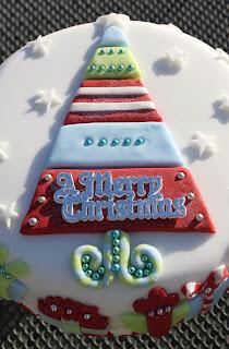 cake, christmas, christmas tree, fondant