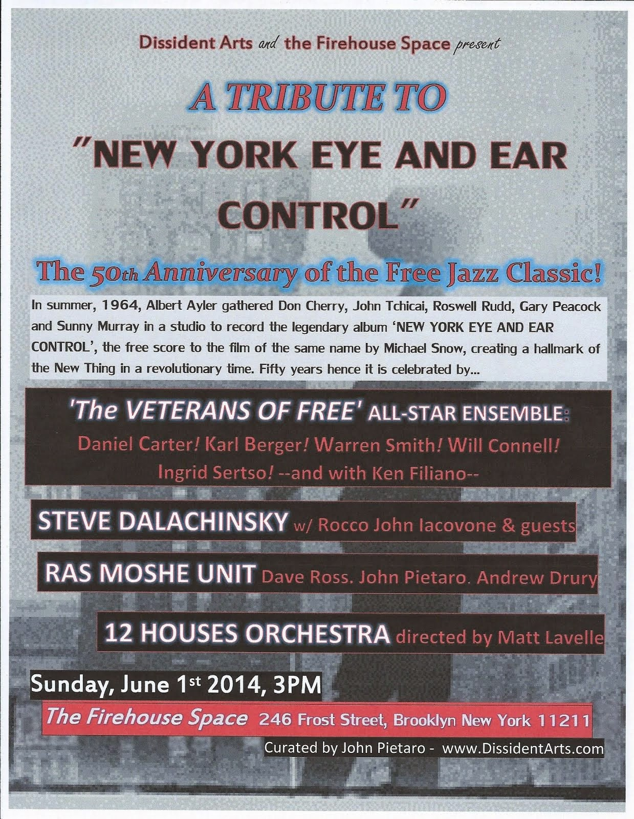 Tribute to 'New York Eye and Ear Control'
