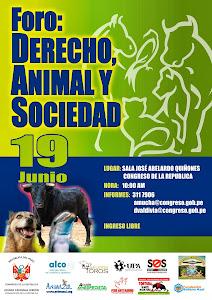 REALIZARAN FORO SOBRE PROTECCION DE LOS ANIMALES