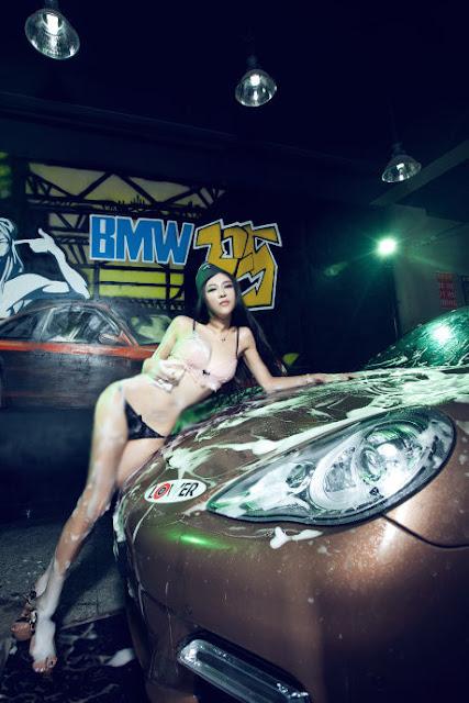 Gang Xiao Xi Washes A Car