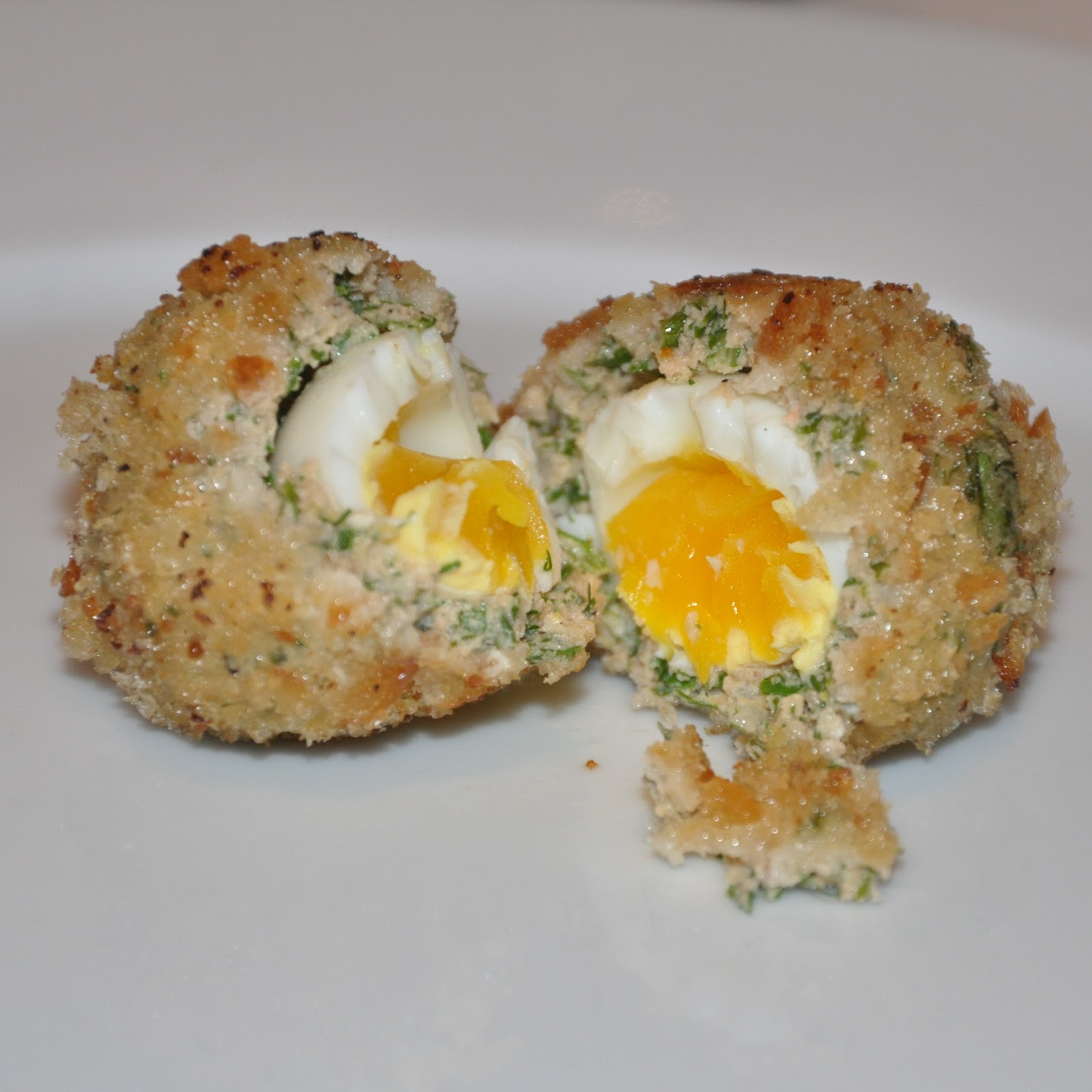 Salmon and Dill Scotch Eggs.
