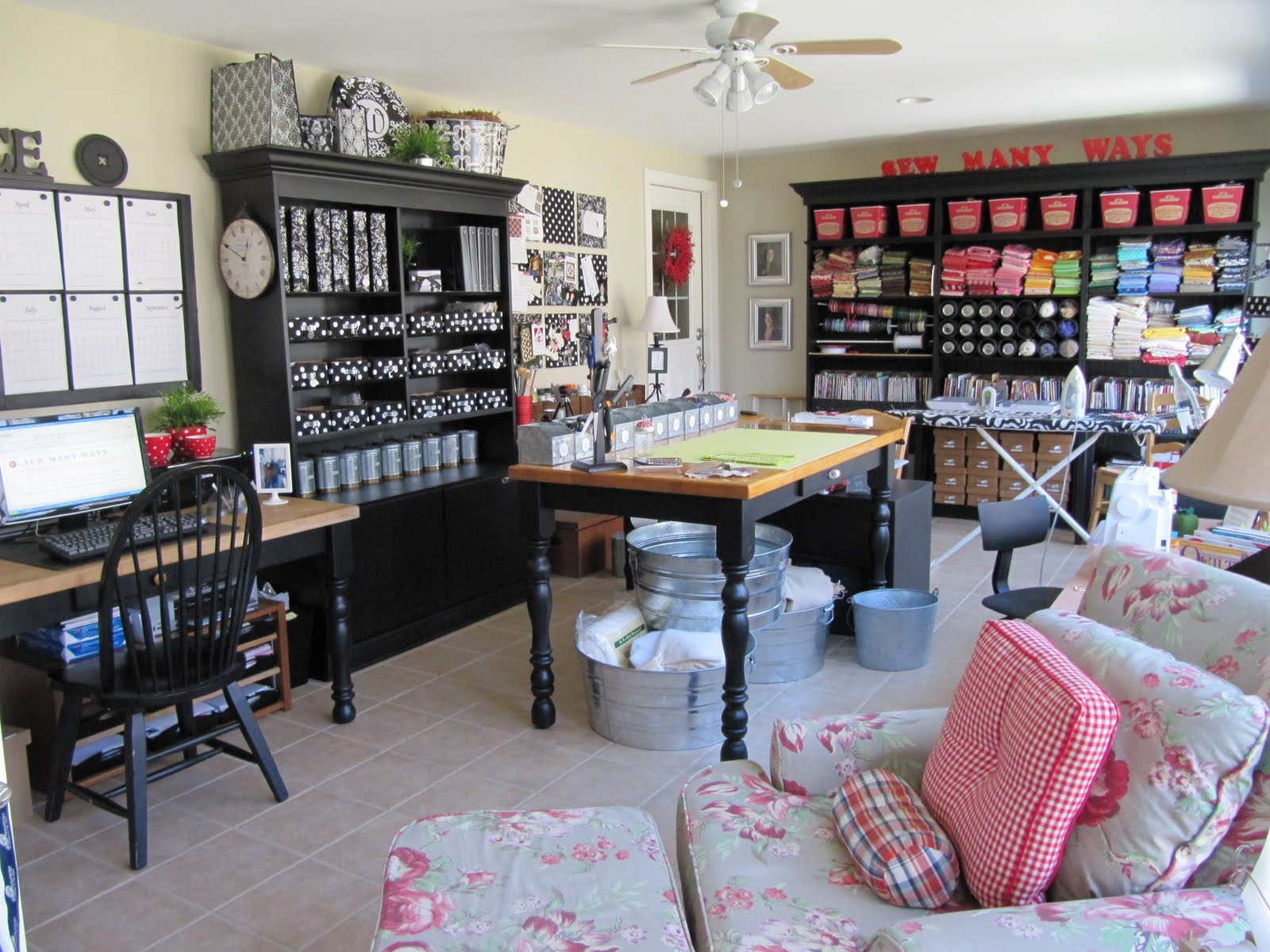 Amazing Organizing Ideas In This Amazing Craft Room Sew Many Ways