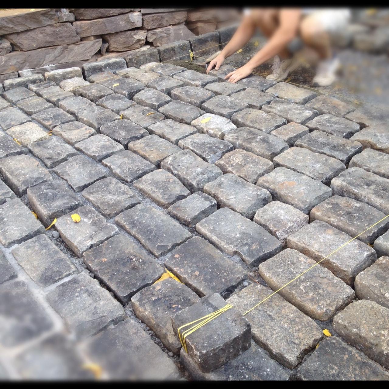 Concrete Cobble Street : High street market driveway update cobblestone apron