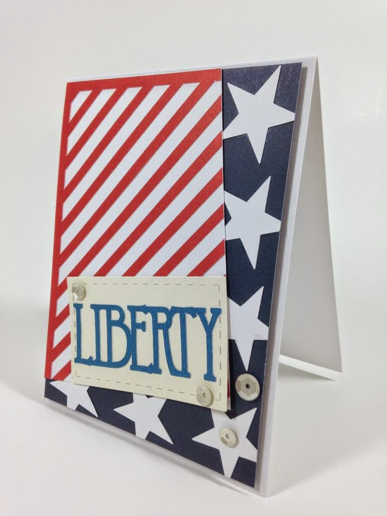 Cricut Patriotic card sideview