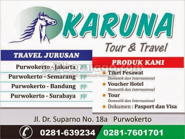 Alamat Travel Karuna Tour and Travel Purwokerto