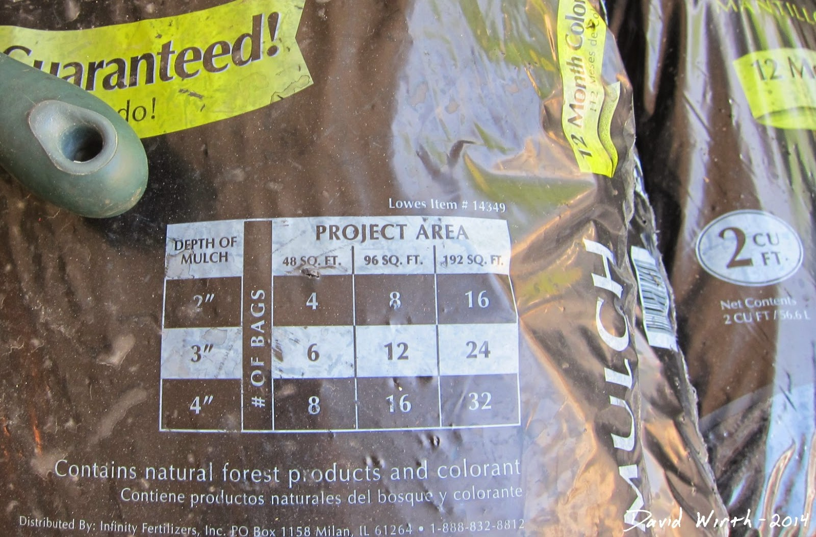 how many bags of mulch do i need, area, calculate, depth , sq.ft.